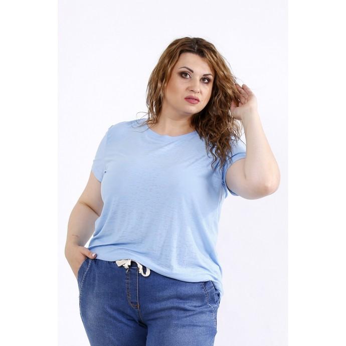 Голубая стрейчевая футболка ККК44429-01201-2