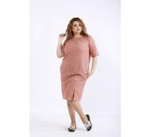 Практичное терракотовое платье ККК44456-01191-3
