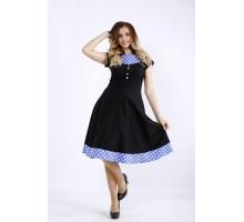 Черное платье с вставками ККК44464-01189-1