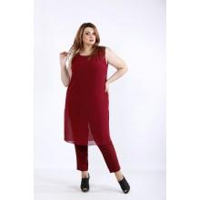 Бордовый комплект: штаны и туника ККК5552-01227-2