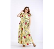 Желтое платье с цветами ККК55512-01224-1