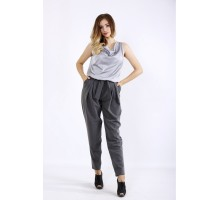 Серый костюм: брюки и блузка ККК55522-01220-1