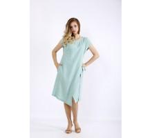 Асимметричное платье шалфей ККК55528-01218-1