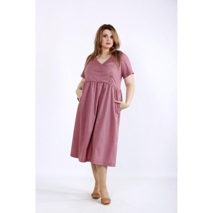 Бисквитное платье ниже колен ККК55529-01217-3