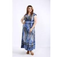 Голубое летнее платье макси ККК55541-01213-2