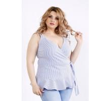 Блузка в синюю полоску ККК22224-01129-2