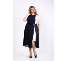 Синее с белым платье ККК22226-01127-3