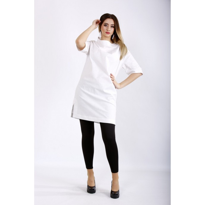 Белая блузка-туника ККК22237-01124-1