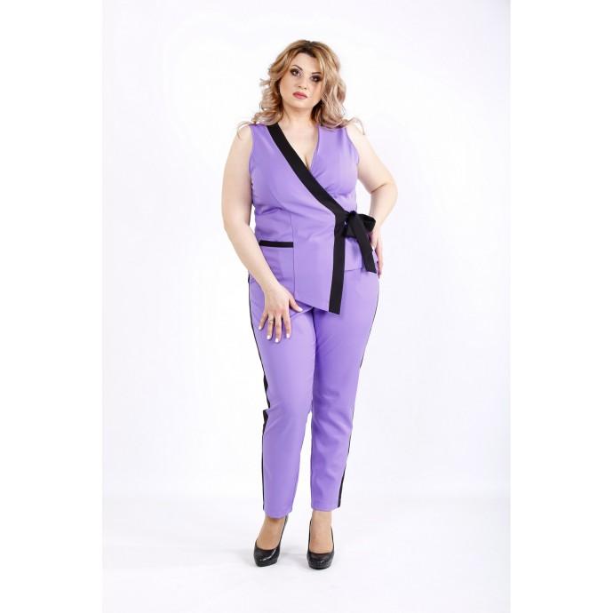 Модный сиреневый костюм ККК2225-01135-2