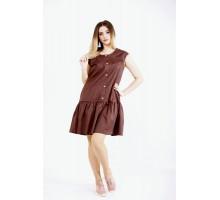 Шоколадное платье с юбкой ККК22246-01121-1