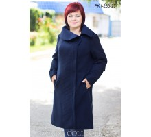 Пальто женское синее ТОП904PK1-263-3