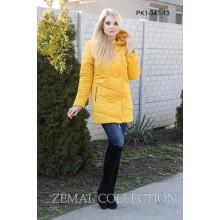 Желтая женская куртка ТОП07-PK1-347