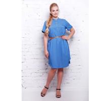 Платье голубое джинсовое  ДЖИНА САД1111