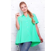 Блуза -клеш цвет бирюзовый  КЛИО САД1115