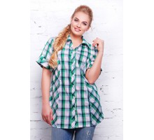 Рубашка в зеленую клетку  НЕНСИ САД11125