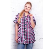 Рубашка в малиновую клетку  НЕНСИ САД11123