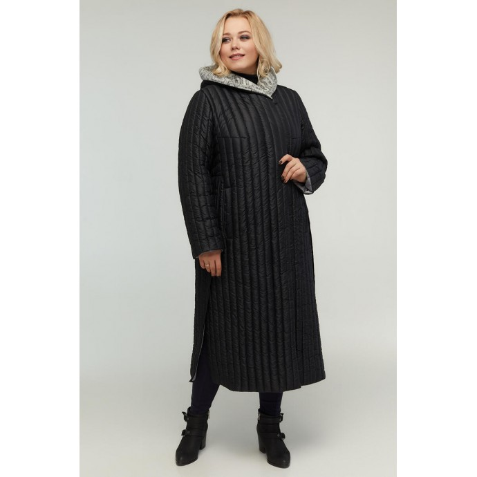 Стильное пальто с разрезами по бокам РК11D11-932