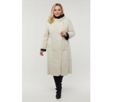 Двухстороннее молочное пальто РК11D13-929