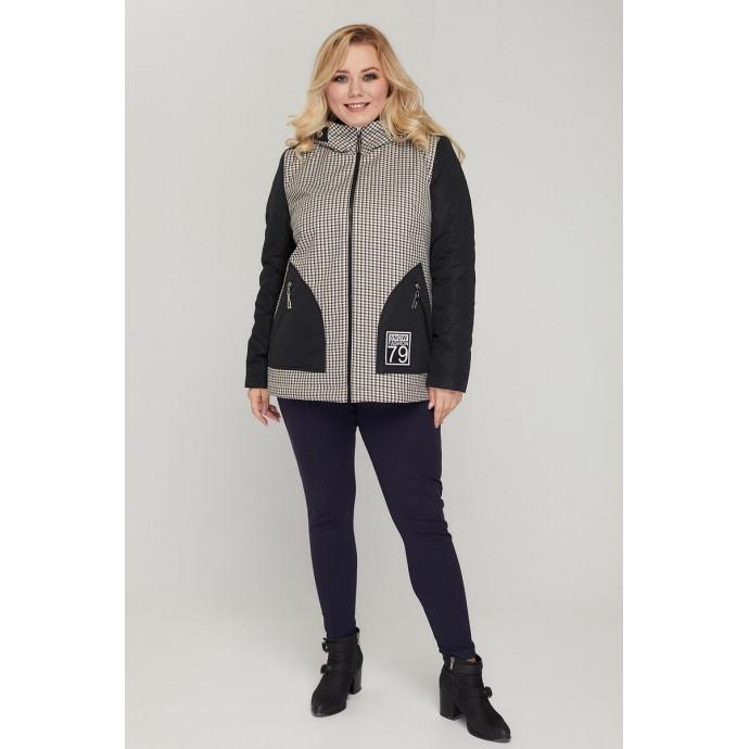 Бежевая легкая куртка РК11D8-912
