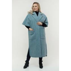 Кардиган-пончо голубой РК11D41-923