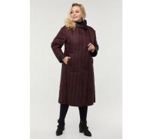Двухстороннее бордовое пальто РК11D12-929