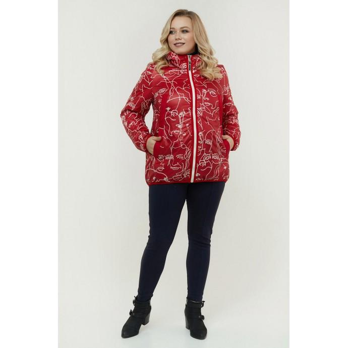 Двухсторонняя весенняя куртка красная РК11D21-934