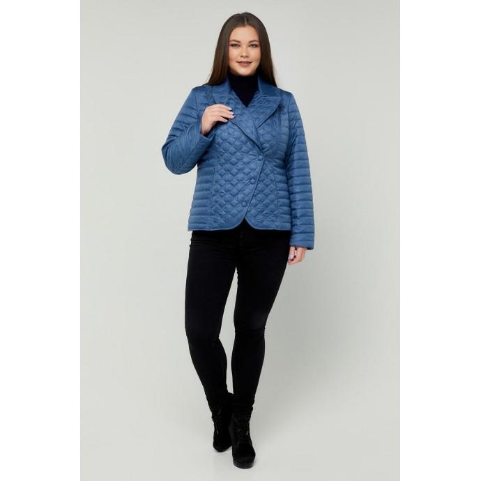 Женская куртка-жакет голубая РК11D36-948