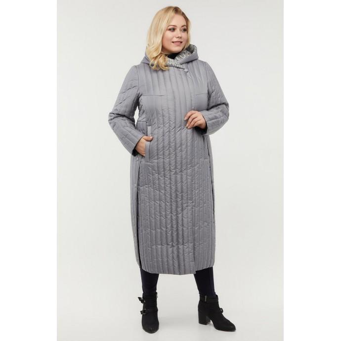 Стильное пальто с разрезами по бокам РК11D15-932