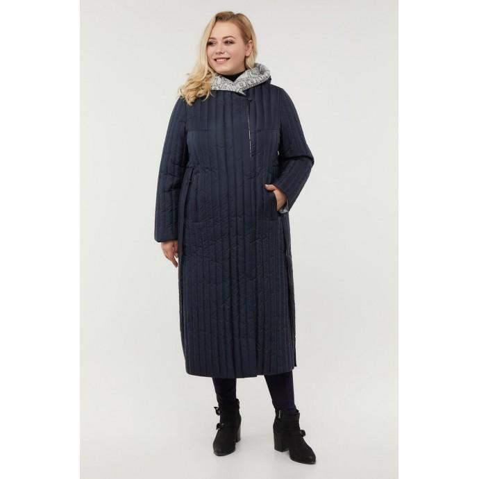 Стильное пальто с разрезами по бокам РК11D14-932