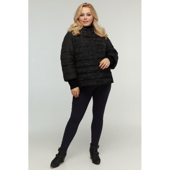 Укороченная модная куртка черная РК11D16-938