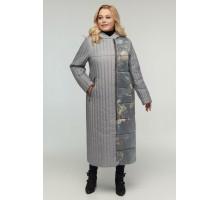 Длинное стеганное пальто РК11D9-922