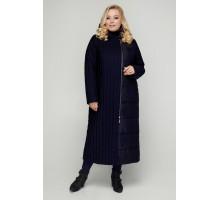 Синее модное пальто на молнии РК11S3-922
