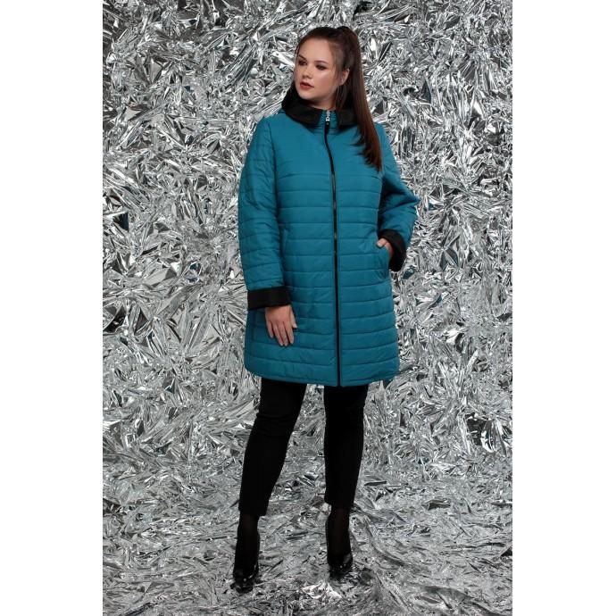 Куртка женская двусторонняя бирюза рк1127r-М-768