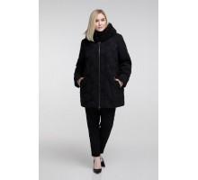 Куртка черная зимняя-кленовый лист РК111133-665