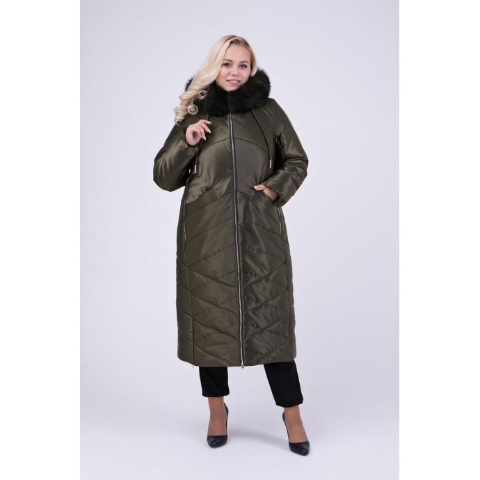 Зимнее пальто с натуральной опушкой РК111139-693