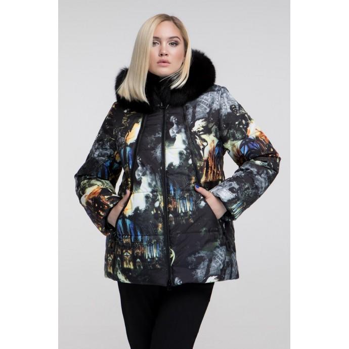 Зимняя куртка с мехом РК11114-677