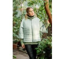 Куртка-пончо мятная осенняя РК1111107-742