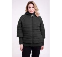 Куртка-пончо черная осенняя РК1111106-742