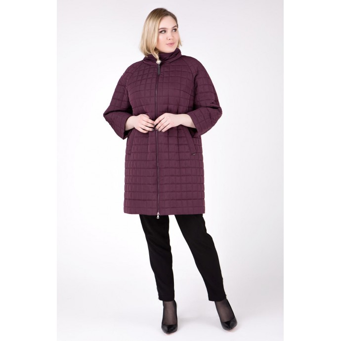 Бордовое пальто модное РК1111124-755