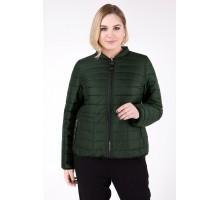 Куртка весенняя темно зеленая двухсторонняя РК111186-733