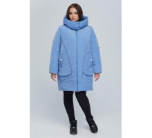 Голубая удлиненная куртка РК11S26-894
