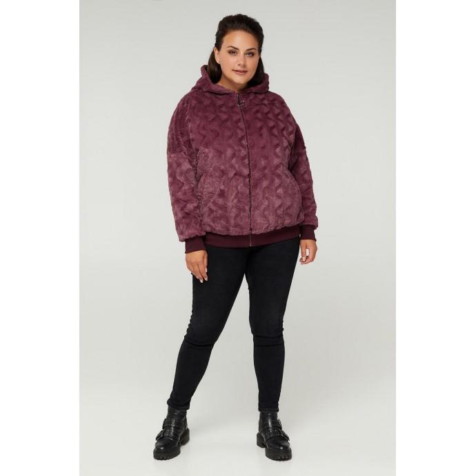 Бордовая модная куртка РК11S31-889