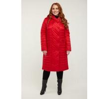 Красное стеганное пальто РК11S17-854
