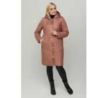 Пудровое стеганное пальто РК11S12-853