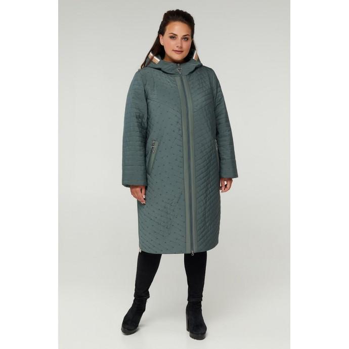 Стеганное пальто на молнии РК11S8-882