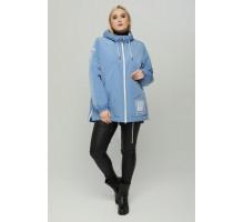 Голубая куртка с капюшоном РК1165r-848