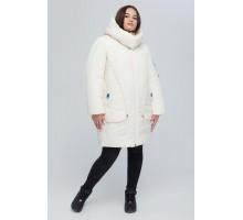 Молочная удлиненная куртка РК11S25-894