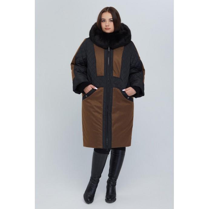 Женское зимнее пальто с натуральной опушкой РК11S51-910