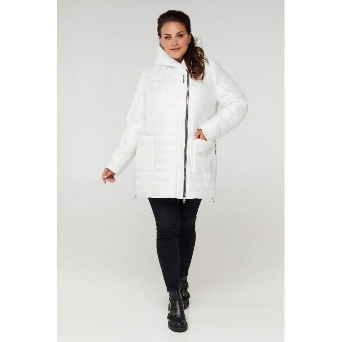 Белая демисезонная куртка с карманами РК11S7-885