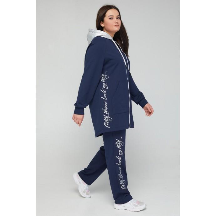 Женский прогулочный костюм темно синий РК116a-СК-2